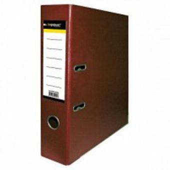 Папка-регистратор inФОРМАТ PVC А4 бургунди картон 75 мм метал.окант. карман
