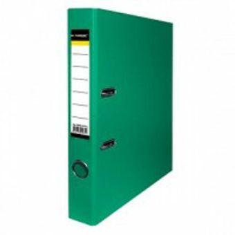 Папка-регистратор inФОРМАТ PVC А4 зел. картон 55 мм метал.окант. карман
