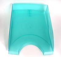 Папка-регистратор inФОРМАТ PVC А4 зел. картон 75 мм метал.окант.