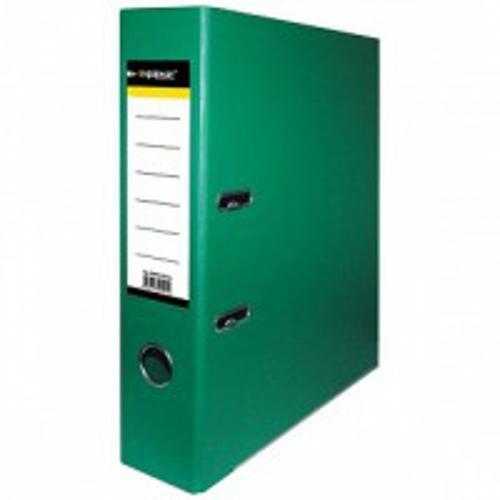 Папка-регистратор inФОРМАТ PVC А4 зел. картон 75 мм метал.окант. карман