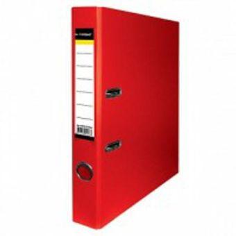 Папка-регистратор inФОРМАТ PVC А4 красн. картон 55 мм метал.окант. карман