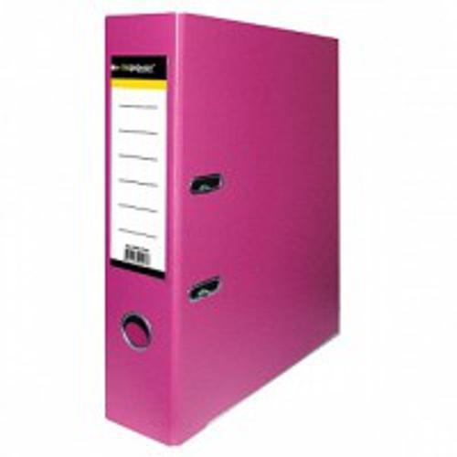 Папка-регистратор inФОРМАТ PVC А4 малин. картон 75 мм метал.окант. карман