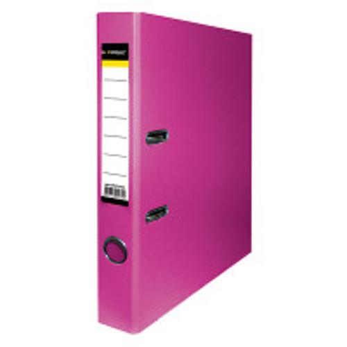 Папка-регистратор inФОРМАТ PVC А4 малиновый картон 55 мм метал.окант. карман