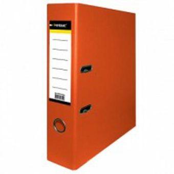 Папка-регистратор inФОРМАТ PVC А4 оранж. картон 75 мм метал.окант. карман