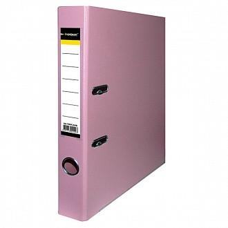 Папка-регистратор inФОРМАТ PVC А4 роз. картон 55 мм метал.окант. карман