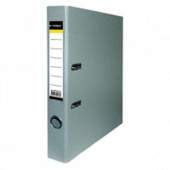 Папка-регистратор inФОРМАТ PVC А4 серый картон 55 мм метал.окант. карман