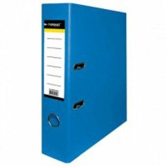 Папка-регистратор inФОРМАТ PVC А4 ярко-синий картон 75 мм метал.окант. карман