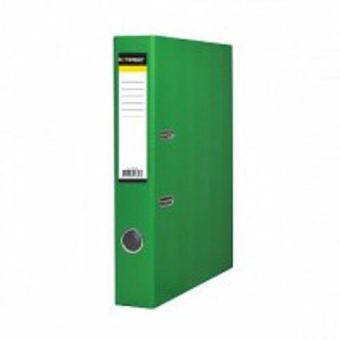 Папка-регистратор inФОРМАТ А4 зел. картон 55 мм метал.окант.