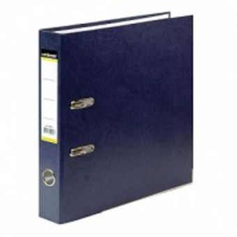 Папка-регистратор inФОРМАТ А4 синий картон 55 мм метал.окант.