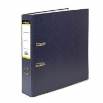 Папка-регистратор inФОРМАТ А4 синий картон 75 мм метал.окант.