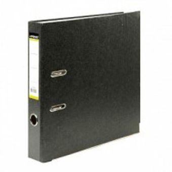 Папка-регистратор inФОРМАТ А4 черный картон 55 мм метал.окант.
