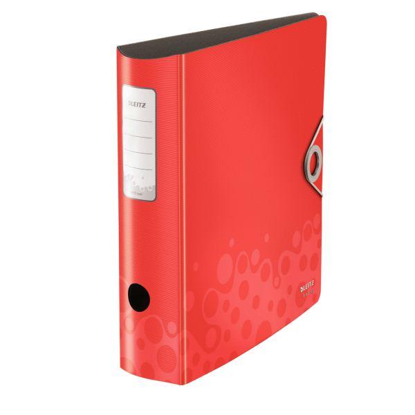 Папка-регистратор LEITZ ACTIVE BEBOP А4 красн. пластик 82 мм метал.окант. внутр. карман