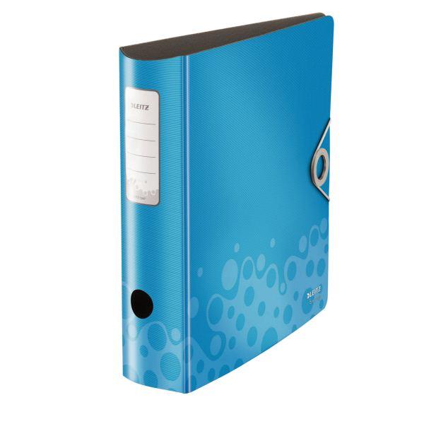 Папка-регистратор LEITZ ACTIVE BEBOP А4 синий пластик 82 мм метал.окант. внутр. карман