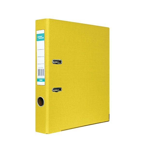 Папка-регистратор STANGER PP А4 желт. картон 55 мм метал.окант. съемн. мех.