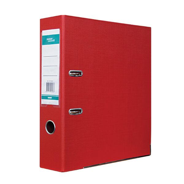 Папка-регистратор STANGER PP А4 красн. картон 75 мм метал.окант. съемн. мех. карман
