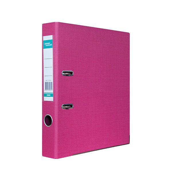 Папка-регистратор STANGER PP А4 роз. картон 55 мм метал.окант. съемн. мех.