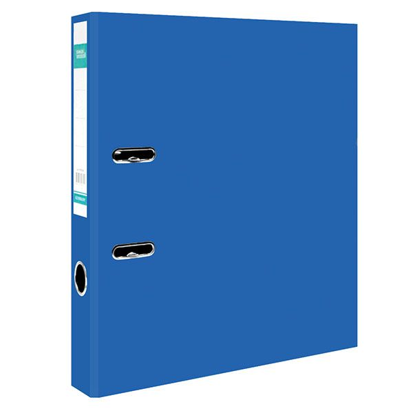 Папка-регистратор STANGER PP А4 синий картон 55 мм метал.окант. съемн. мех.