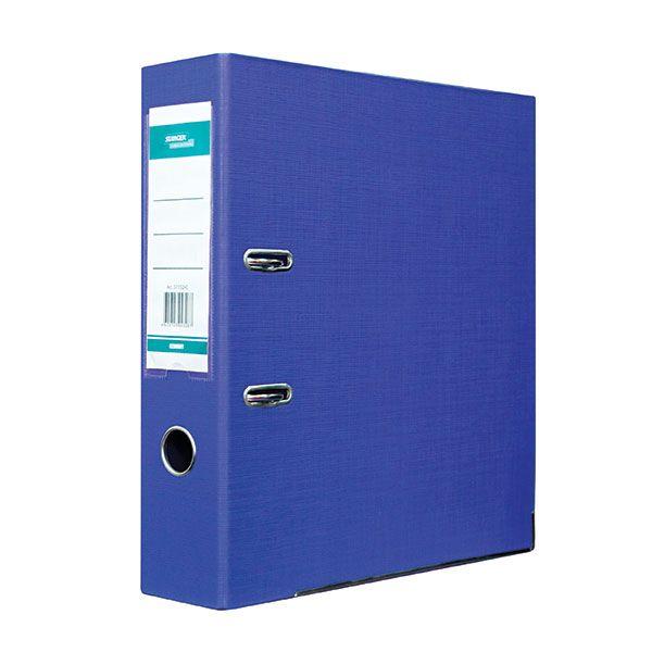 Папка-регистратор STANGER PP А4 синий картон 75 мм метал.окант. съемн. мех. карман