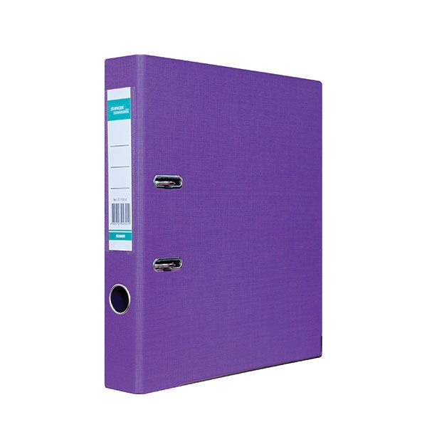 Папка-регистратор STANGER PP А4 фиол. картон 55 мм метал.окант. съемн. мех.