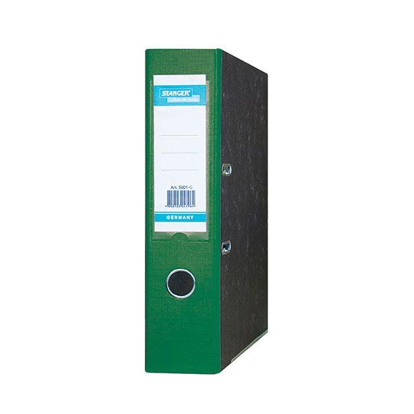 Папка-регистратор STANGER А4 мраморно-зеленый картон 75 мм метал.окант. съемн. мех.