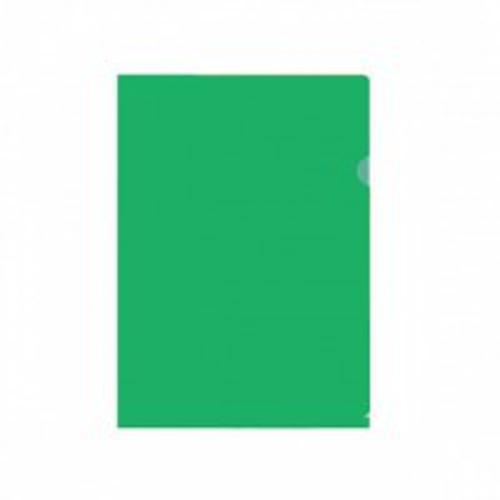 Папка-уголок inФОРМАТ А4 зеленый пластик 150мкм