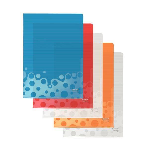 Папка-уголок LEITZ BEBOP А4 ассорти пластик 200мкм