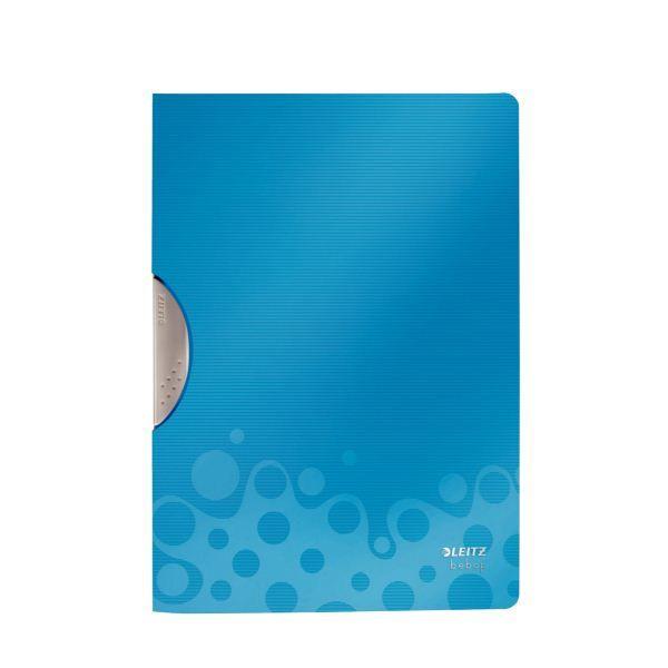 Папка-уголок LEITZ BEBOP А4 синий пластик с клипом