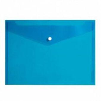 Пласт. конверты inФОРМАТ А4 синий пластик 150мкм на кнопке
