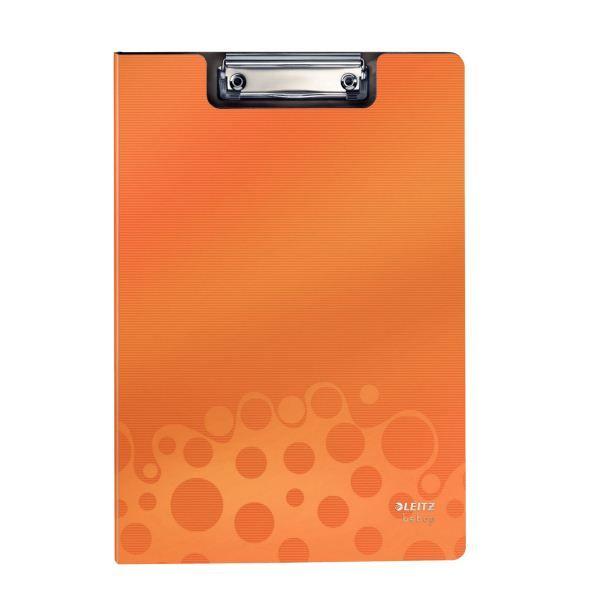 Планшет LEITZ BEBOP А4 оранжевый пластик с зажимом с крышкой