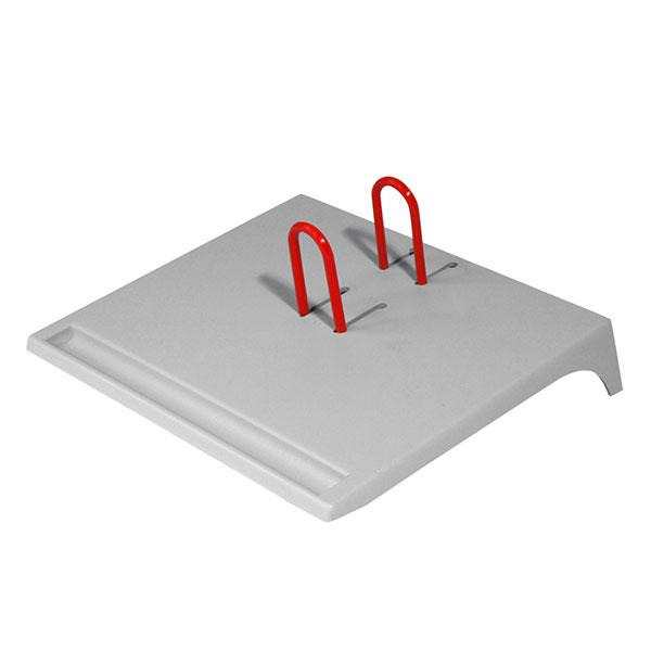 Подставка д/календарей СТАММ серый пластик