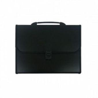 Портфели inФОРМАТ А4 черный пластик 0,95 мм 13 отделений ручка оторочка замок