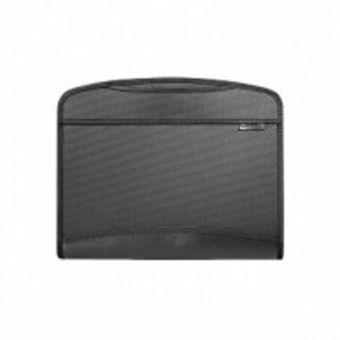 Портфели inФОРМАТ А4 черный пластик 1 мм 2 отделения выдвижные ручки