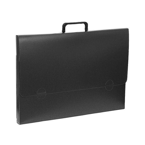 Портфели РЕГИСТР А3 черный пластик 25 мм ручки замок