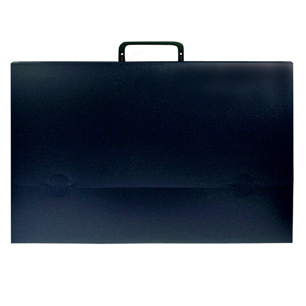 Портфели РЕГИСТР А4 синий пластик 25 мм ручки замок