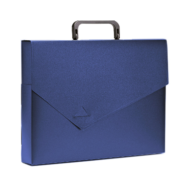 Портфели РЕГИСТР А4 синий пластик 40 мм ручки замок