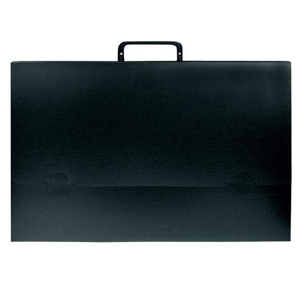 Портфели РЕГИСТР А4 черный пластик 25 мм ручки замок