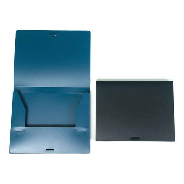 Портфель-папка РЕГИСТР А4 синий пластик 25 мм