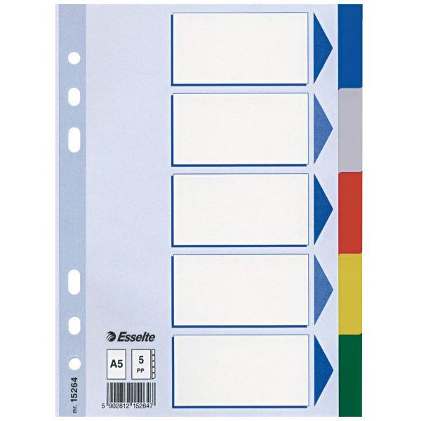 Разделители ESSELTE А5 ламин. картон 1-10