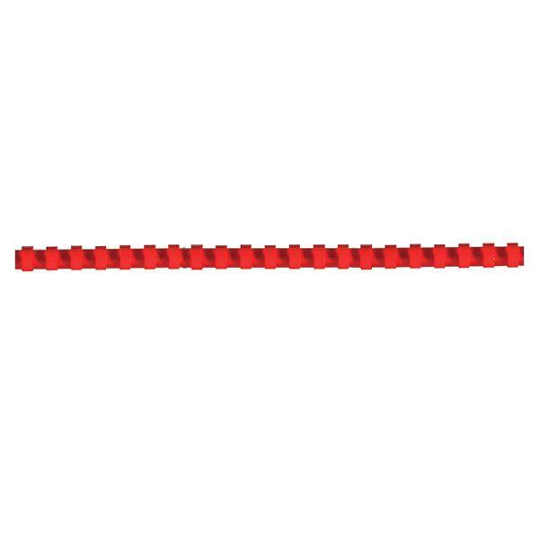 Пружина д/переплета FELLOWES 12 мм красн. пластик А4 0 мкм 100 шт