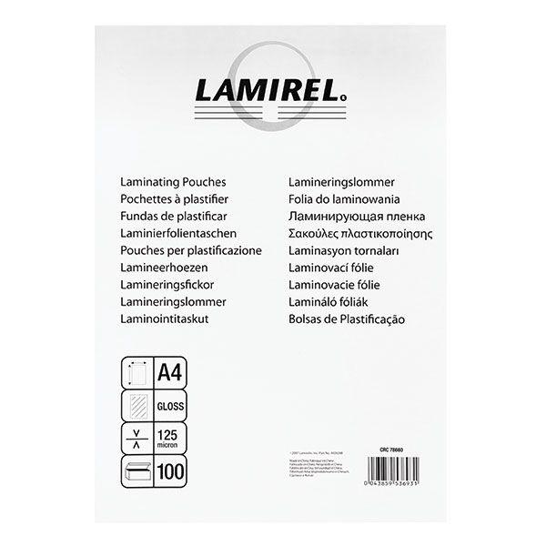 Пленка д/ламинир. LAMIREL 100 мкм А4 100 шт/уп