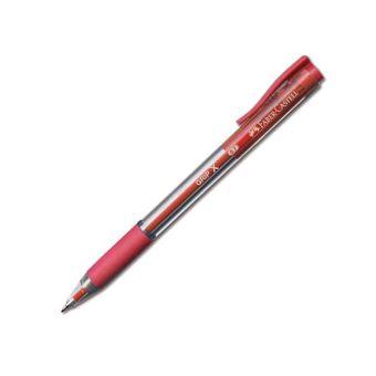 Ручка шарик.автом. FABER GRIP X7 0,7 мм красн. резин.грип