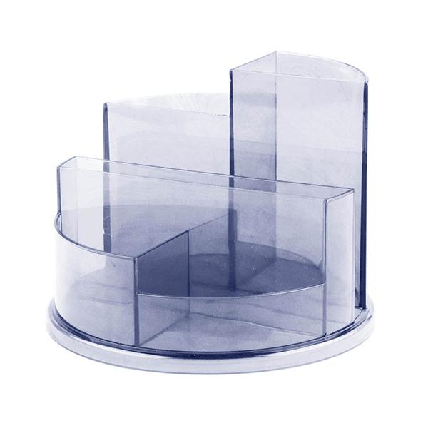 Подставка д/канц inФОРМАТ UNIVERSAL дымчат. пластик тониров.