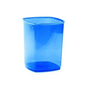 Стакан д/канц inФОРМАТ UNIVERSAL синий пластик тониров.