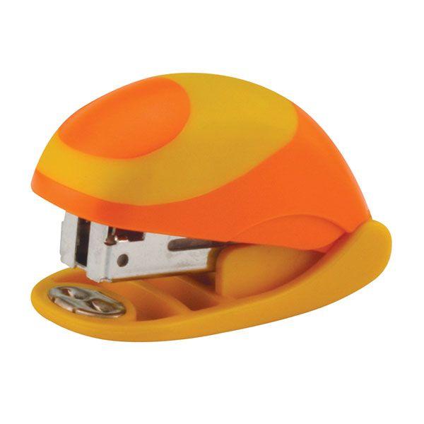 Степлер OMAX мини желт/оранж. комбинированный№ 24/6 15 л.