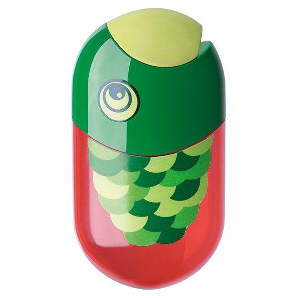 Точилка FABER с контейнером красн.с ластиком