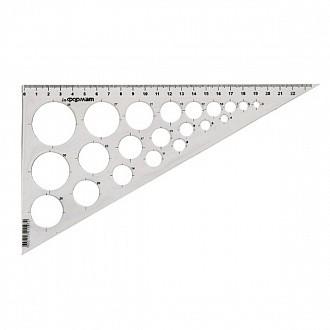 Треугольник 30 гр 25 см пласт. прозр.