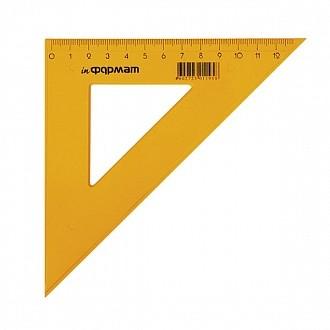 Треугольник 45 гр 14 см пласт. желт.