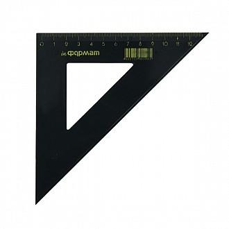 Треугольник 45 гр 14 см пласт. черный