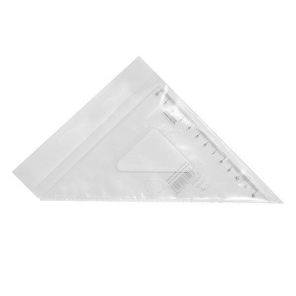 Треугольник 45 гр 14,1 см пласт. прозр.