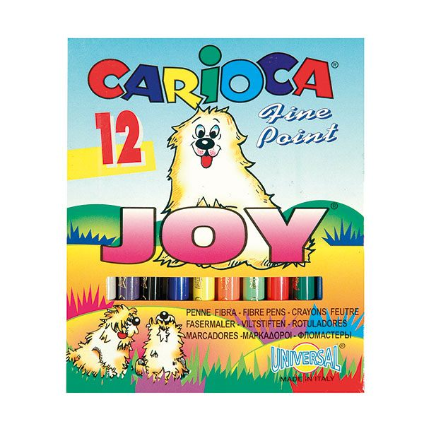 Фломастеры CARIOCA JOY 12 цв. карт. упак. кругл. корп.